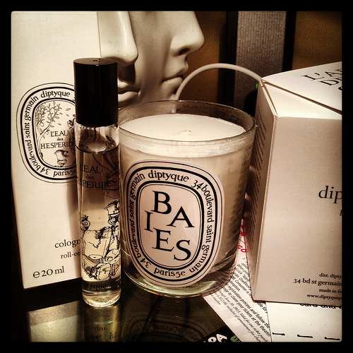 Diptyque Parfum Roll-On and Candle