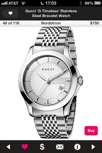 Gucci G Timeless Steel bracelet watch - on the Popsugar Shopping app
