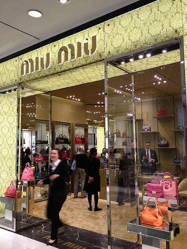 Miu Miu store at Bloomingdale's