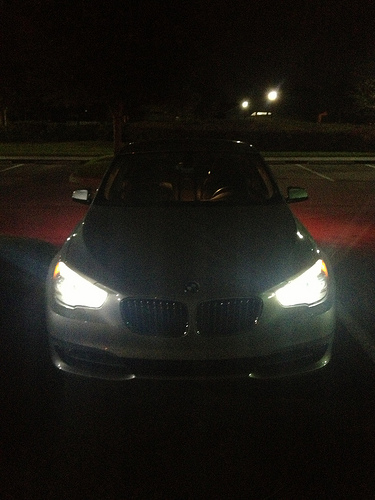 Swiveling headlamps on a BMW (noticing a theme?)