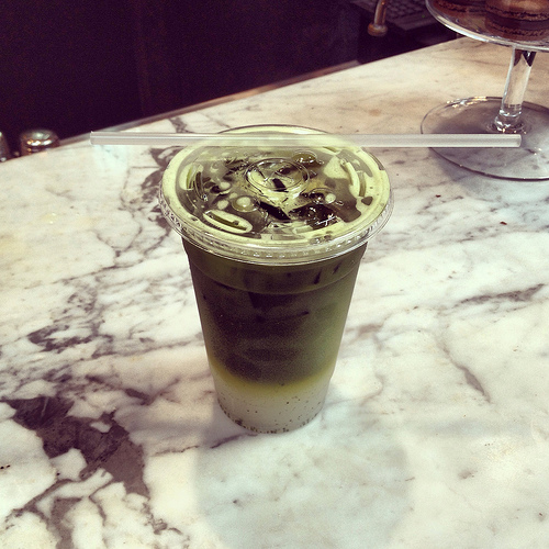 TeBella Matcha Lemonade concoction