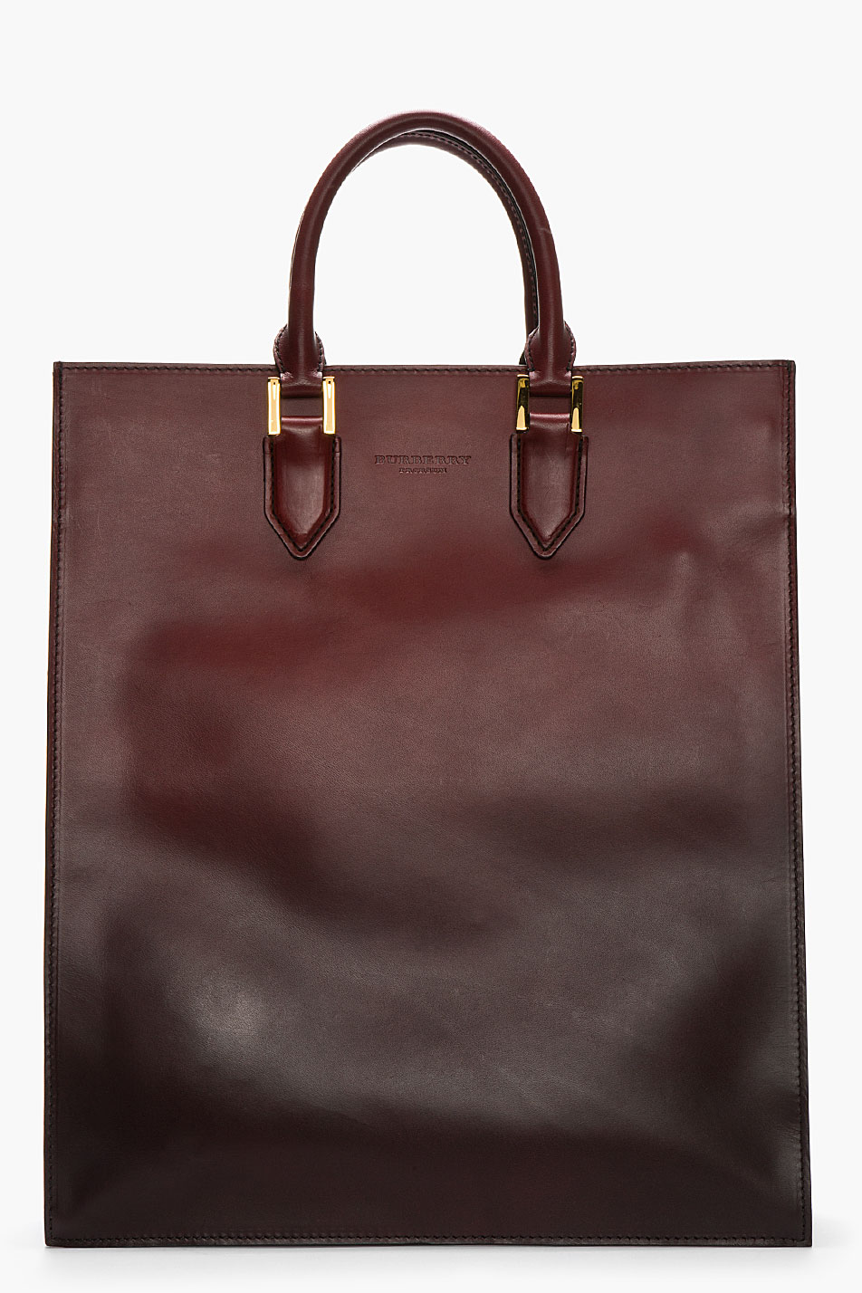 Burberry Cloption tote in delectable thick ombre calf