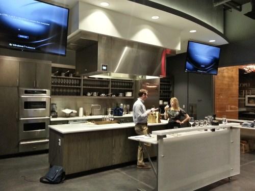 The kitchen at the Epicurean Theatre