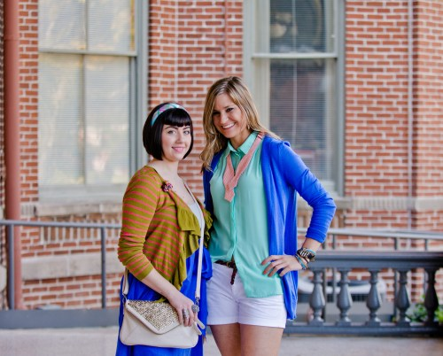 Desi and Tara, our stylists
