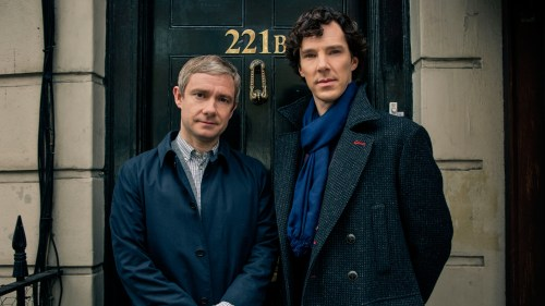 Martin Freeman and Benedict Cumberbatch as Dr. Watson & Mr. Holmes