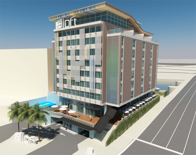 A rendering of the finished aloft