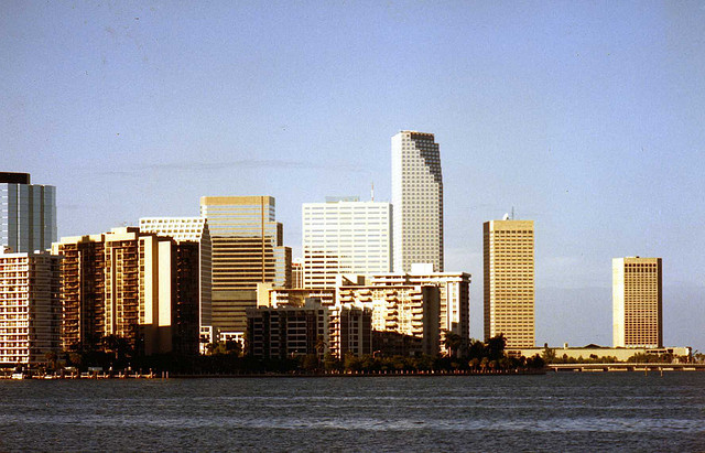 Downtown Miami of the 1980s