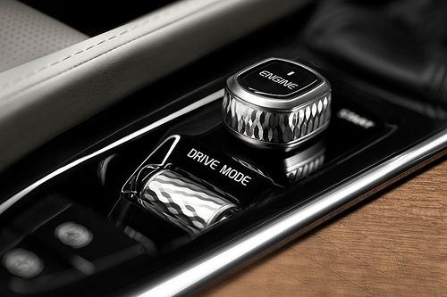 Volvo XC90 turned aluminum switchgear
