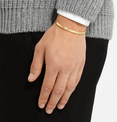 Le Gramme 15g polished gold cuff at MRP