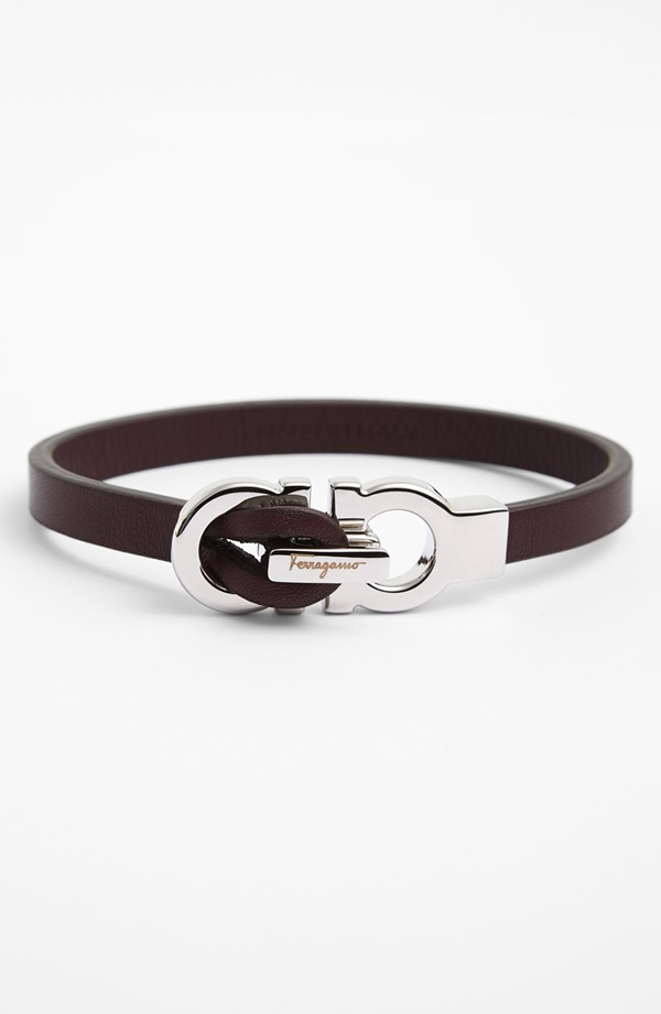 Salvatore Ferragamo Gancini bracelet in brown, from Nordstrom