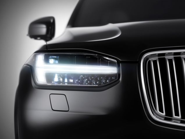 Thor's Hammer LED headlamps on the 2016 Volvo XC90