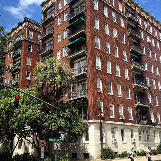 The DeRenne apartments on Liberty Street, Savannah