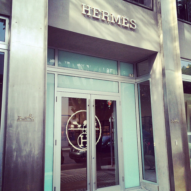 Hermes recently relocated from Bal Harbour to the Design District of Miami (this is the temporary store, recently closed as the permanent store in the Design District was opened)