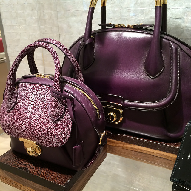 Salvatore Ferragamo handbags are just one of many exclusives to the new Saks' store on the Suncoast