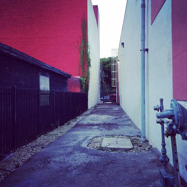 A Wynwood alleyway, in Midtown Miami