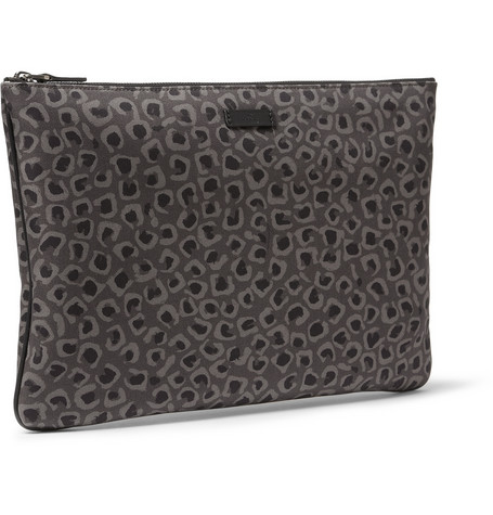 Gucci Leopard canvas pouch
