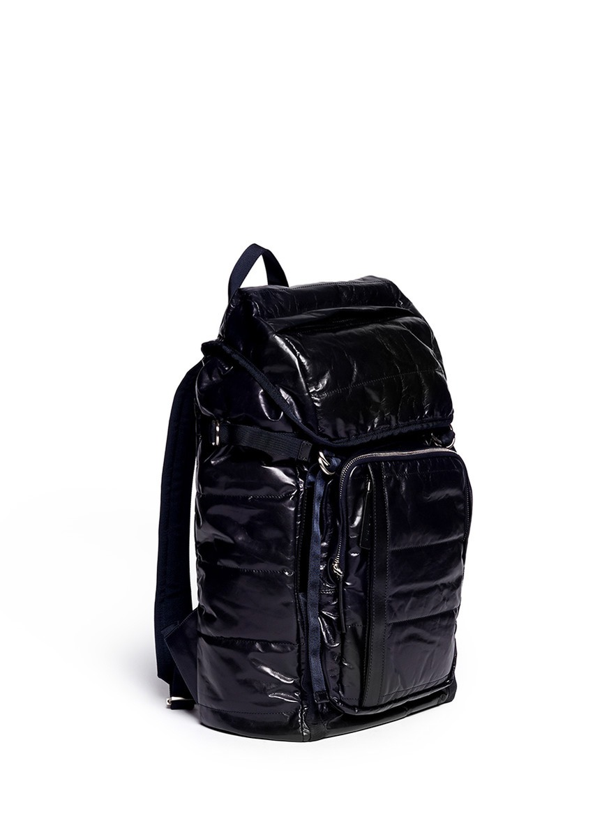 Marni navy papery nappa leather backpack, FW14