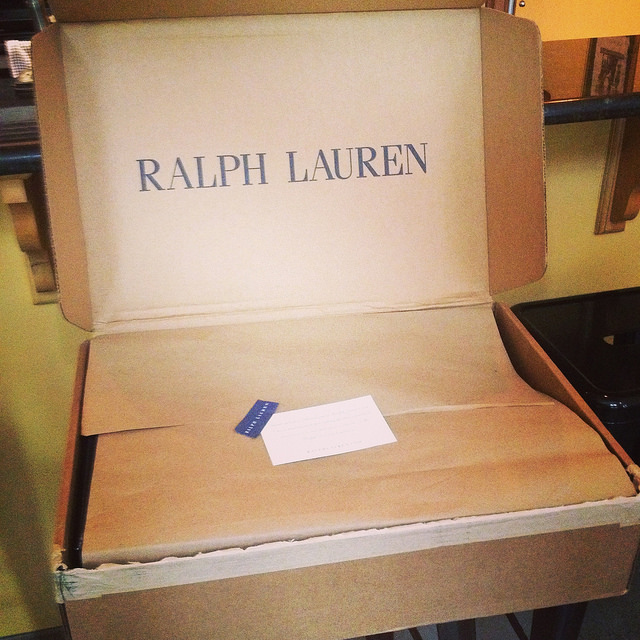 Craft paper and a branded box bring the Ralph Lauren experience upmarket
