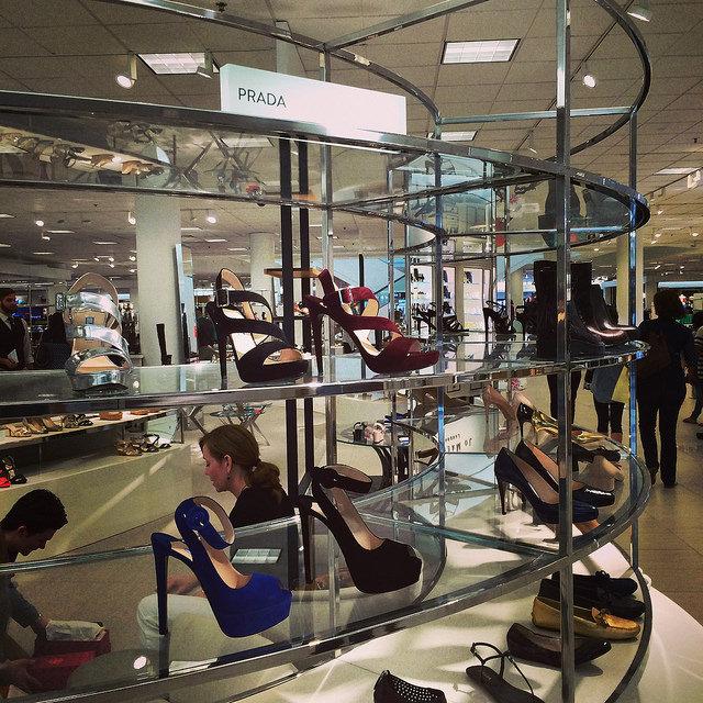 Prada footwear at Nordstrom International Plaza