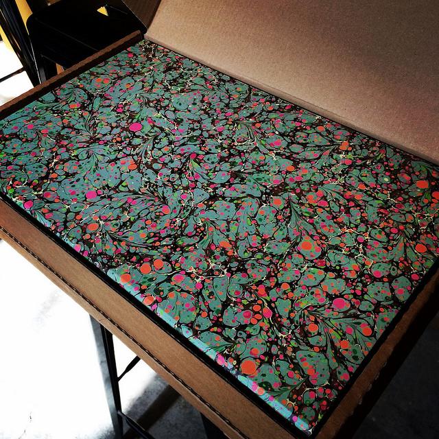 Matches Fashion marbled shipping box