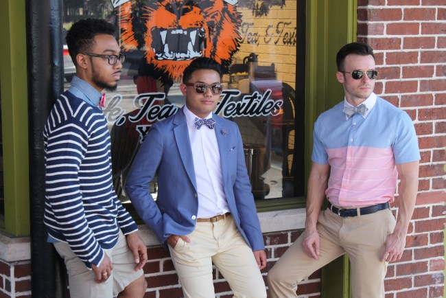 Ella Bing Bow Ties Spring 2015 photoshoot at the Blind Tiger Cafe in Ybor City, Tampa