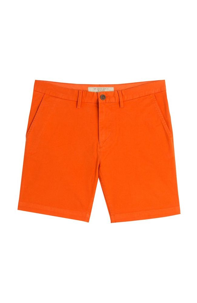 Orange Cotton Bermuda Shorts from Burberry Brit at Stylebop