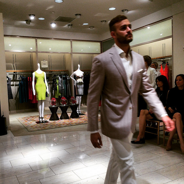 Colby Lengel modeling Spring-Summer 2015 at Neiman Marcus Tampa Bay