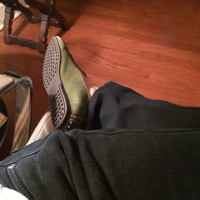 Moss suede venetian loafers from Ralph Lauren