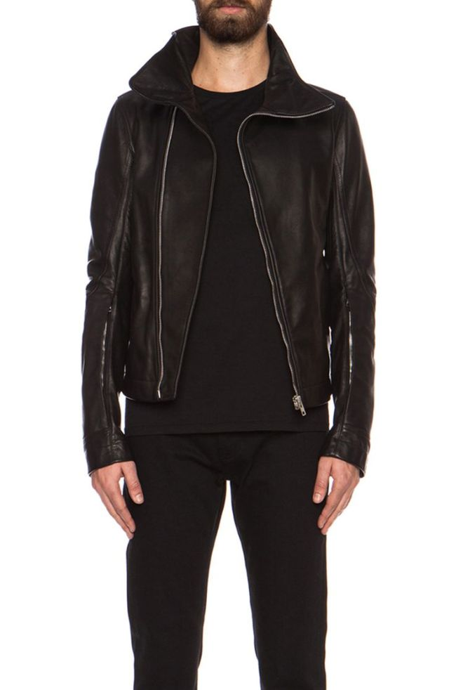 Rick Owens Bauhaus leather jacket