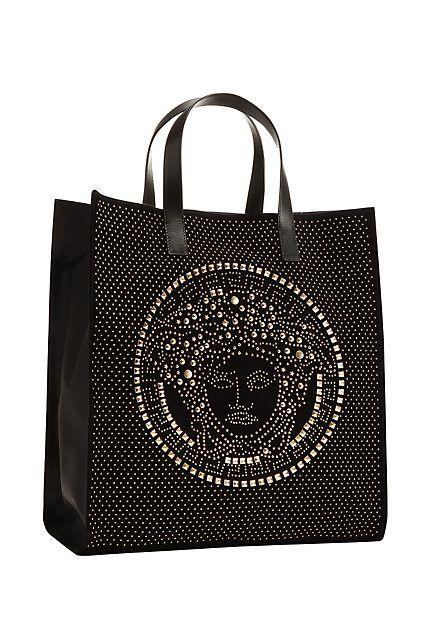 Versace crystal Medusa tote bag
