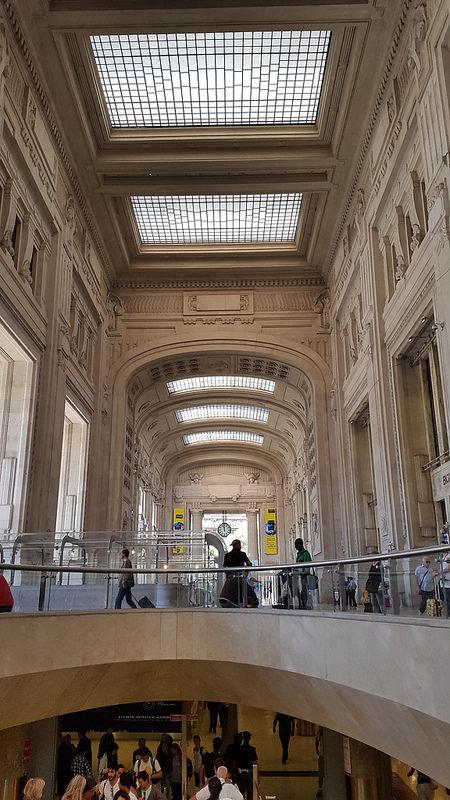 Stazione Centrale, Milan's largest train station.