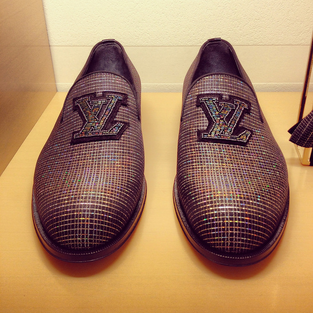 Louis Vuitton BOLD logo loafers at its San Francisco Maison, 2014