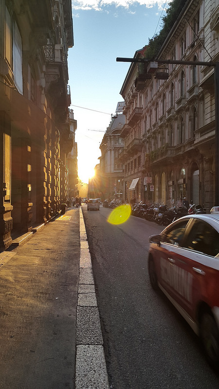 Sunset from Via Broletto