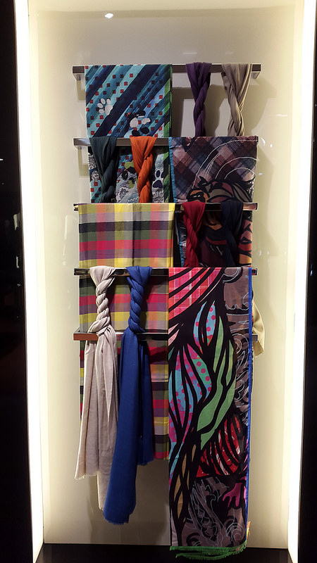 Wall of scarves, for which Etro is world-renown