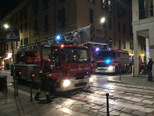 Swooning over Italian fire trucks. They're not as loud or large as American ones, but then again, what would you expect? The fire station is just down the street from me, a coincidence I swear!