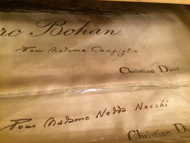 Nedda Necchi's bespoke Christian Dior scarves