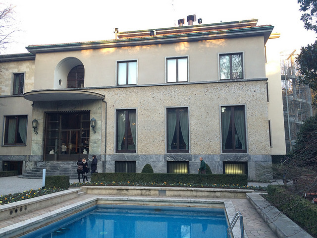 One last shot of the pool at Villa Necchi