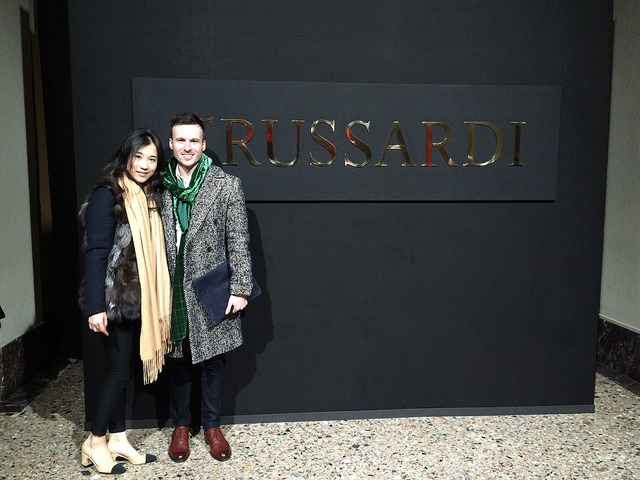 Ting & I at Trussardi men's FW16 presentation