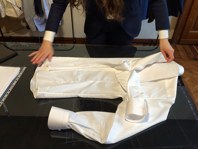 Folding a dress shirt is truly an art not to be underestimated