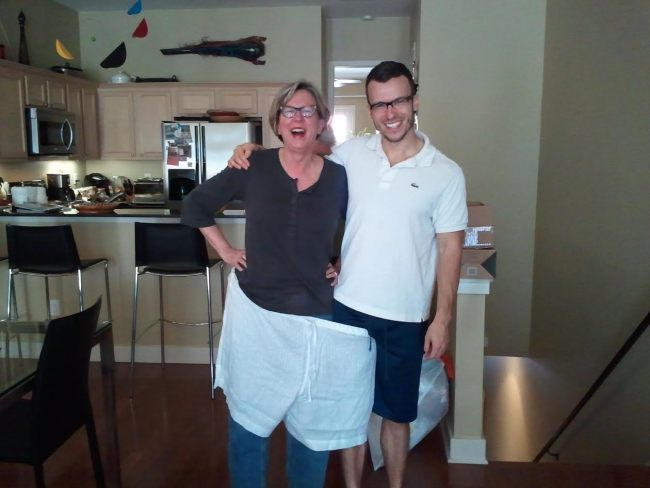 That Christmas dad ordered the total wrong size shorts for her