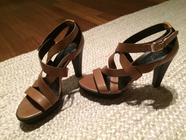 Hogan brown heeled sandals at Bivio, purchased by a friend