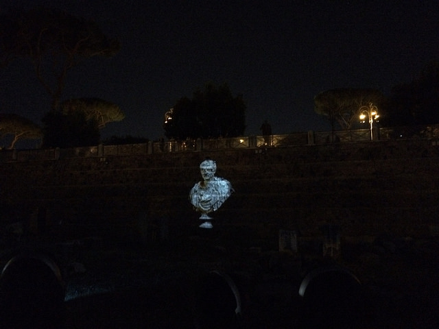 Projections added to the story of thousands of years inside the Roman Forums