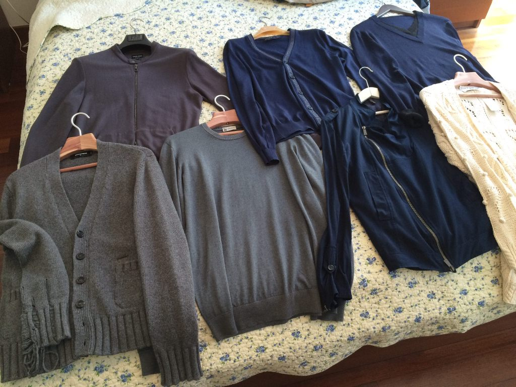 Second-hand sweaters from Bivio: Giorgio Armani, Colombo, Gazzarini, Moschino