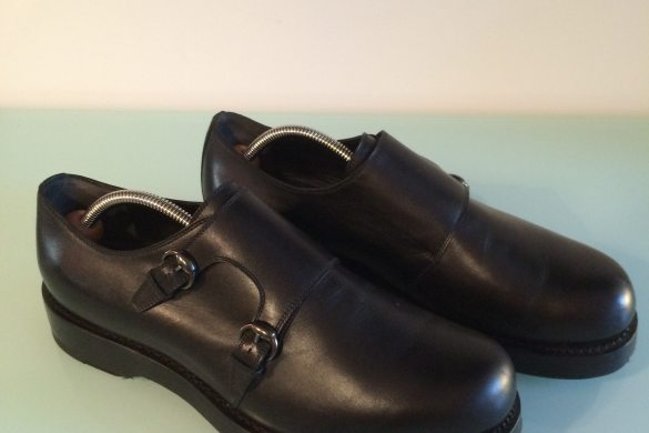 Gucci goodyear-welt black monkstrap shoes