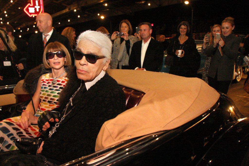 Uncle Karl and Anna Wintour at the rodeo; credit: New York Times