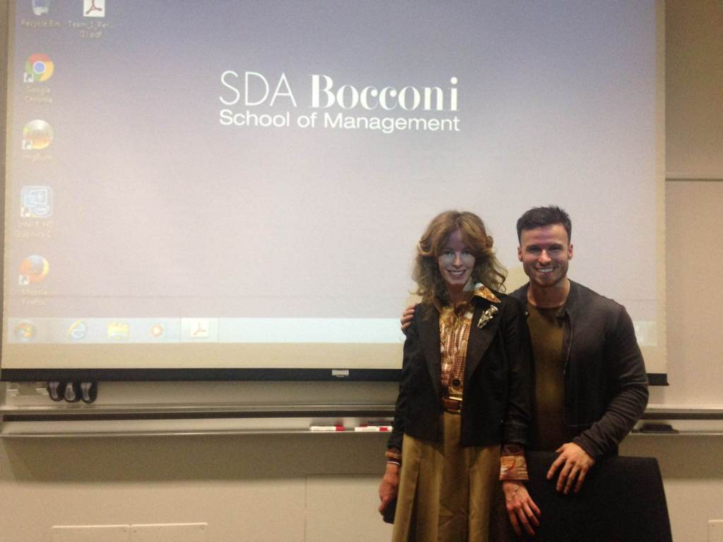 Hilary Walker of BIVIO Milano (resale fashion store) spoke on campus about her unique business model