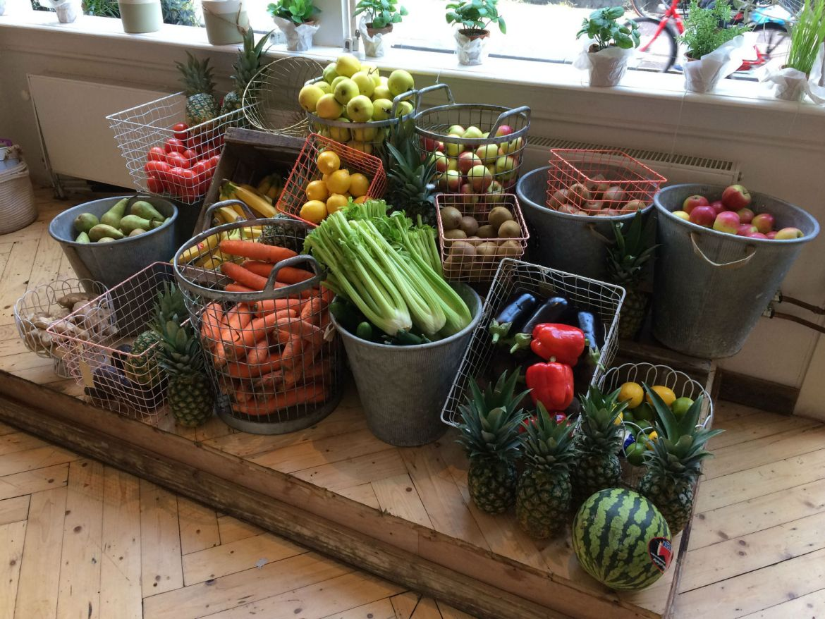 Fresh produce at Pluk
