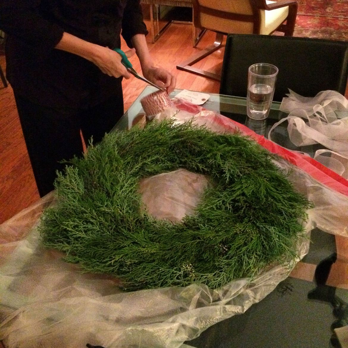 A holiday wreath from Lindsay Easton, local farmer