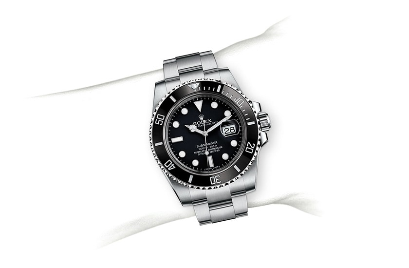 Rolex Submariner Date with black enamel bezel