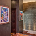2919 West Alline by ROJO Architecture, art in master suite